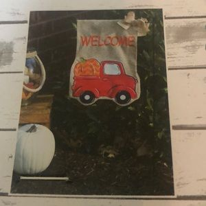 New Welcome Autumn Harvest flag set with stand